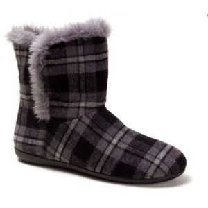Vionic Plaid Kari Slipper Bootie Size 7